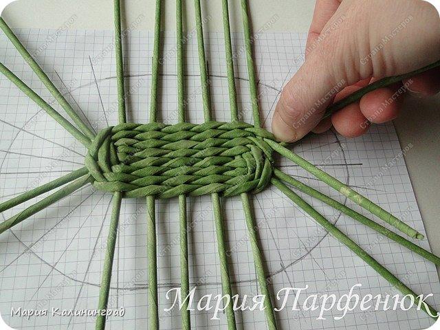 Мастер-класс Поделка изделие Плетение Овальное дно мастер класс Бумага газетная Трубочки бумажные фото 30