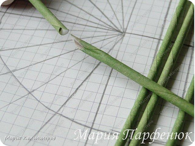 Мастер-класс Поделка изделие Плетение Овальное дно мастер класс Бумага газетная Трубочки бумажные фото 4