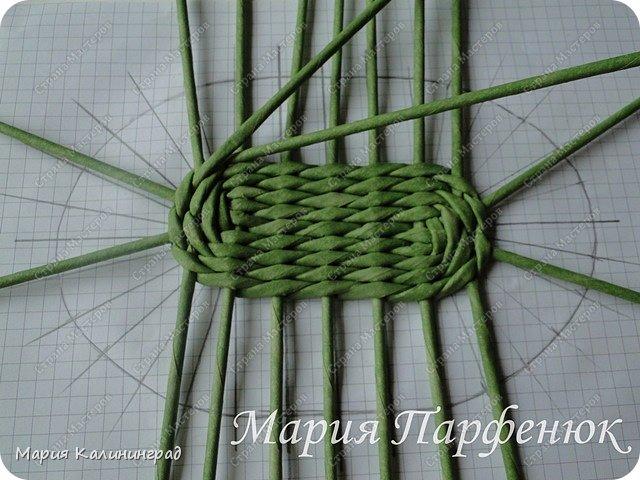 Мастер-класс Поделка изделие Плетение Овальное дно мастер класс Бумага газетная Трубочки бумажные фото 31
