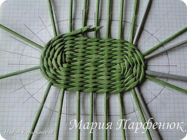 Мастер-класс Поделка изделие Плетение Овальное дно мастер класс Бумага газетная Трубочки бумажные фото 32