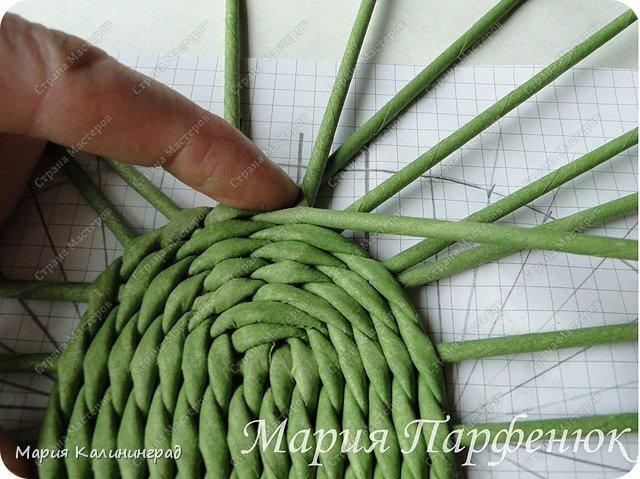 Мастер-класс Поделка изделие Плетение Овальное дно мастер класс Бумага газетная Трубочки бумажные фото 34