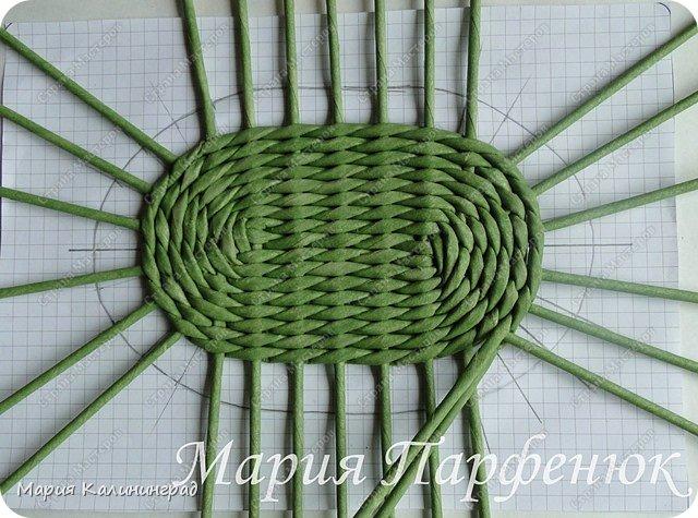 Мастер-класс Поделка изделие Плетение Овальное дно мастер класс Бумага газетная Трубочки бумажные фото 35