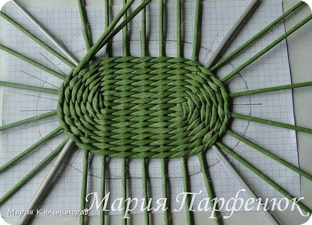 Мастер-класс Поделка изделие Плетение Овальное дно мастер класс Бумага газетная Трубочки бумажные фото 36