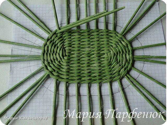 Мастер-класс Поделка изделие Плетение Овальное дно мастер класс Бумага газетная Трубочки бумажные фото 37