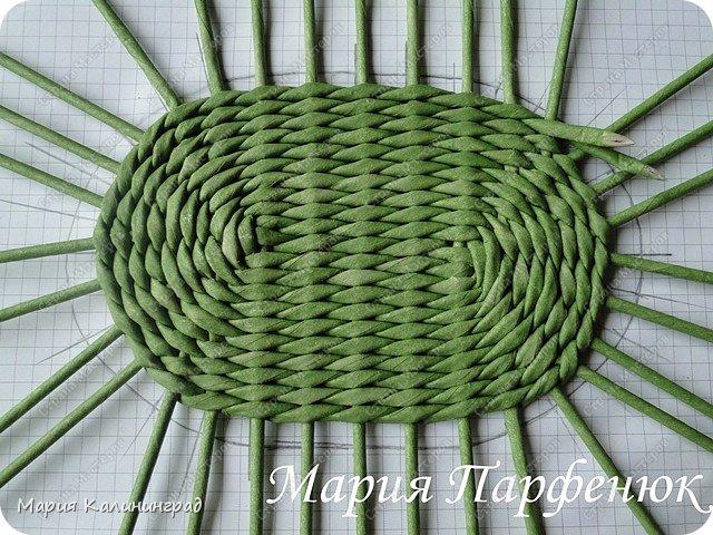 Мастер-класс Поделка изделие Плетение Овальное дно мастер класс Бумага газетная Трубочки бумажные фото 38