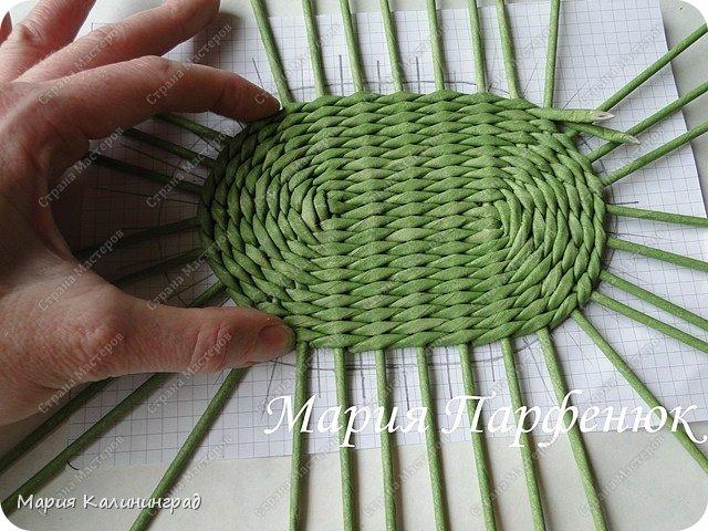 Мастер-класс Поделка изделие Плетение Овальное дно мастер класс Бумага газетная Трубочки бумажные фото 40