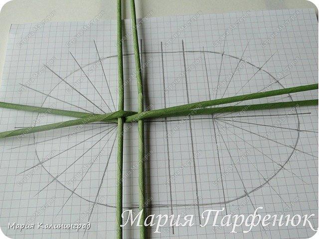 Мастер-класс Поделка изделие Плетение Овальное дно мастер класс Бумага газетная Трубочки бумажные фото 6