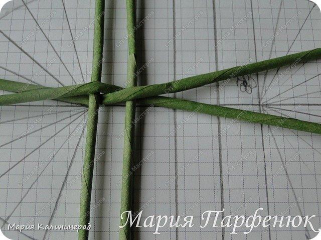 Мастер-класс Поделка изделие Плетение Овальное дно мастер класс Бумага газетная Трубочки бумажные фото 7
