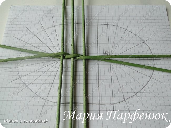 Мастер-класс Поделка изделие Плетение Овальное дно мастер класс Бумага газетная Трубочки бумажные фото 8