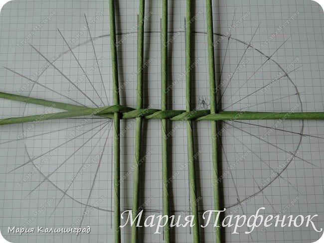 Мастер-класс Поделка изделие Плетение Овальное дно мастер класс Бумага газетная Трубочки бумажные фото 9