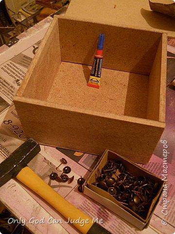 Мастер-класс Поделка изделие Моделирование конструирование Ларец из прошлого Гипс Дерево Клей Краска фото 4