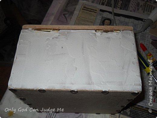 Мастер-класс Поделка изделие Моделирование конструирование Ларец из прошлого Гипс Дерево Клей Краска фото 21
