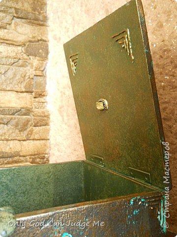 Мастер-класс Поделка изделие Моделирование конструирование Ларец из прошлого Гипс Дерево Клей Краска фото 39