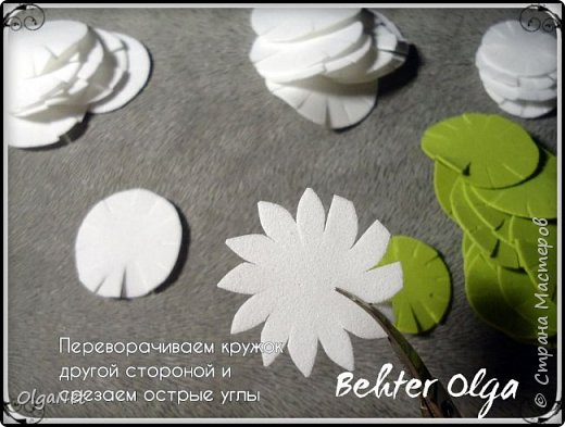 Мастер-класс Моделирование конструирование МК Броши Белый клевер из фоамирана Фоамиран фом фото 7