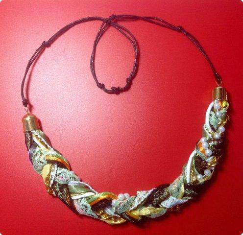 Мастер-класс Украшение Плетение Стильное украшение из обрезков фото 1