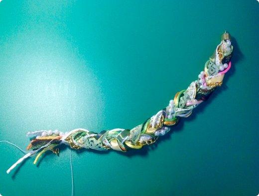 Мастер-класс Украшение Плетение Стильное украшение из обрезков фото 7