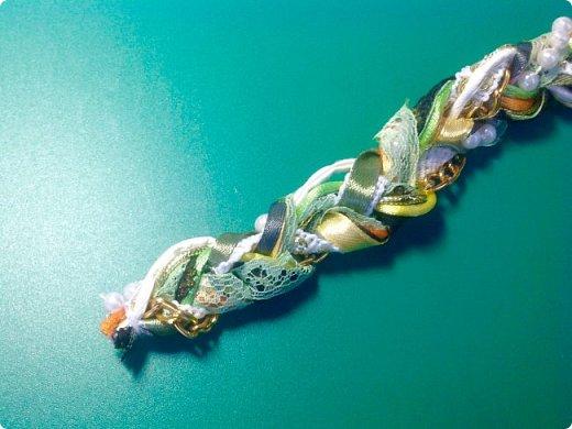 Мастер-класс Украшение Плетение Стильное украшение из обрезков фото 8