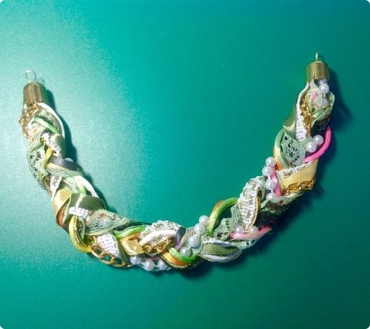 Мастер-класс Украшение Плетение Стильное украшение из обрезков фото 9