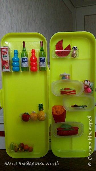 Здравствуйте)))) Сегодня хочу поделиться с вами идеей, как сделать холодильник для кукол. фото 13