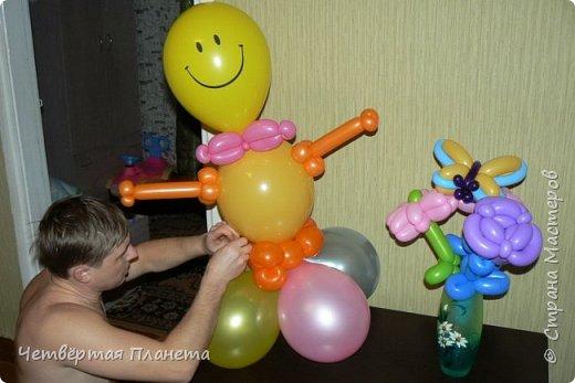 А кто такие фиксики? Моя дочь на этот вопрос и споёт и спляшет :) ...Сколько же было радости, когда мой муж сделал такой подарок - Нолик из шаров, ростом 120 см! фото 5
