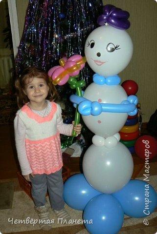 А кто такие фиксики? Моя дочь на этот вопрос и споёт и спляшет :) ...Сколько же было радости, когда мой муж сделал такой подарок - Нолик из шаров, ростом 120 см! фото 3