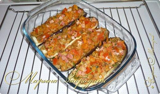 Кулинария Мастер-класс Рецепт кулинарный Лодочки из баклажанов с ветчиной и овощами Продукты пищевые фото 22
