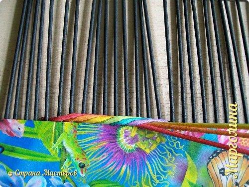 Мастер-класс Поделка изделие Декупаж Плетение Короб Лето От А до Я-2 часть Бумага Трубочки бумажные фото 6