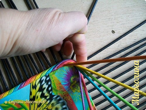 Мастер-класс Поделка изделие Декупаж Плетение Короб Лето От А до Я-2 часть Бумага Трубочки бумажные фото 9