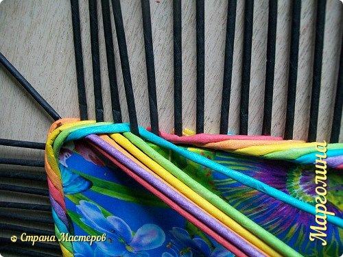 Мастер-класс Поделка изделие Декупаж Плетение Короб Лето От А до Я-2 часть Бумага Трубочки бумажные фото 10