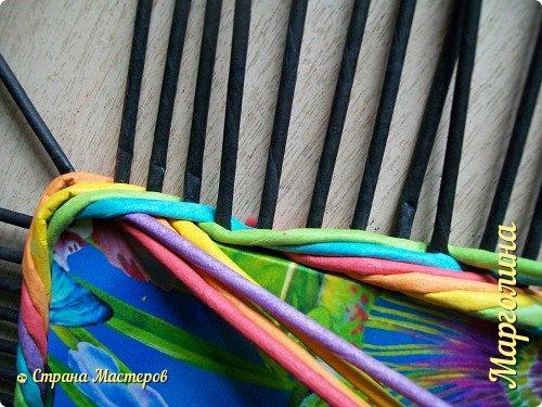 Мастер-класс Поделка изделие Декупаж Плетение Короб Лето От А до Я-2 часть Бумага Трубочки бумажные фото 11
