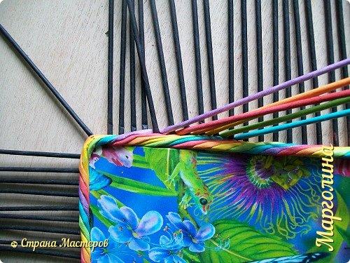 Мастер-класс Поделка изделие Декупаж Плетение Короб Лето От А до Я-2 часть Бумага Трубочки бумажные фото 12