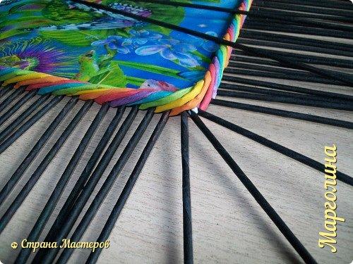 Мастер-класс Поделка изделие Декупаж Плетение Короб Лето От А до Я-2 часть Бумага Трубочки бумажные фото 16