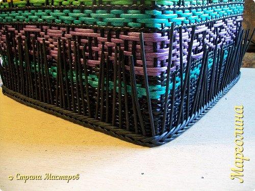 Мастер-класс Поделка изделие Декупаж Плетение Короб Лето От А до Я-2 часть Бумага Трубочки бумажные фото 21
