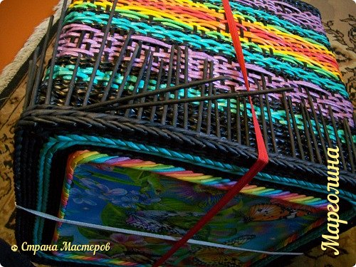 Мастер-класс Поделка изделие Декупаж Плетение Короб Лето От А до Я-2 часть Бумага Трубочки бумажные фото 22