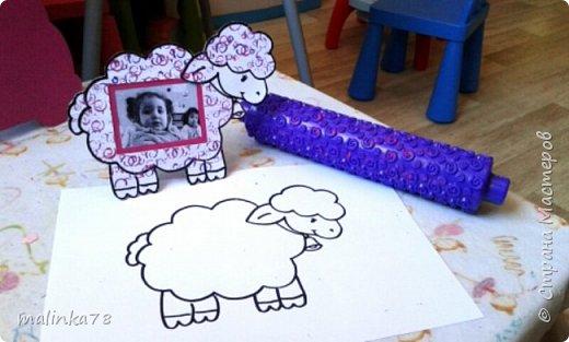 Вот такую простенькую рамку сделали с детками, которым  3 годика фото 2