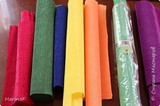 Мастер-класс Материалы и инструменты Плетение Окраска бумажных трубочек Бумага гофрированная Трубочки бумажные фото 2