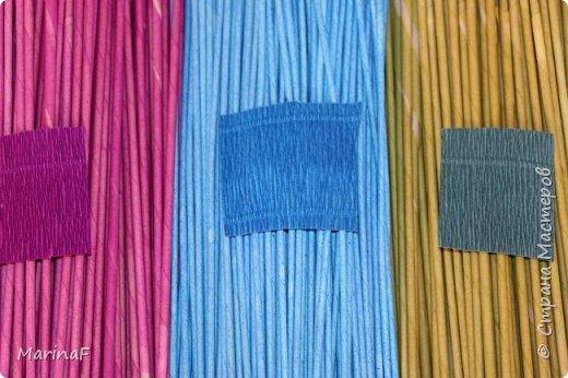 Мастер-класс Материалы и инструменты Плетение Окраска бумажных трубочек Бумага гофрированная Трубочки бумажные фото 1
