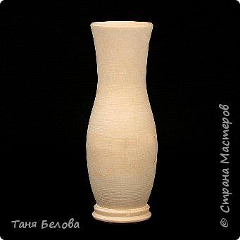 Декор предметов Мастер-класс Лепка Фарфоровая ваза Глина Краска фото 2