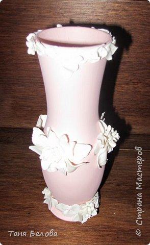 Декор предметов Мастер-класс Лепка Фарфоровая ваза Глина Краска фото 6
