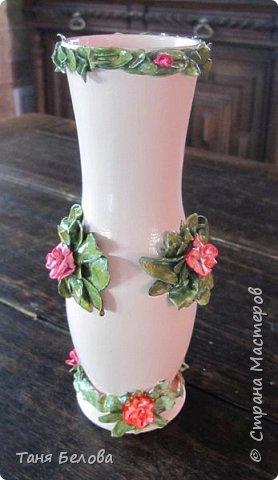 Декор предметов Мастер-класс Лепка Фарфоровая ваза Глина Краска фото 7