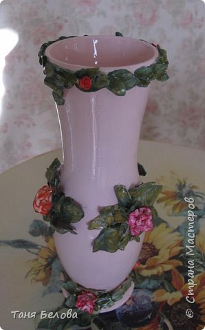 Декор предметов Мастер-класс Лепка Фарфоровая ваза Глина Краска фото 9