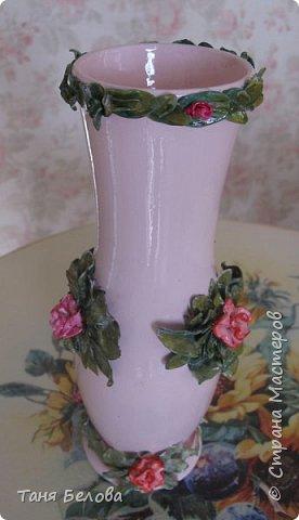 Декор предметов Мастер-класс Лепка Фарфоровая ваза Глина Краска фото 1