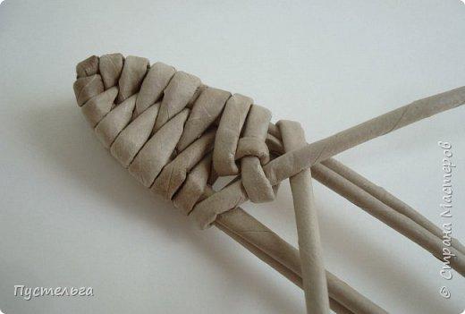 Мастер-класс Поделка изделие Плетение Ящерка Трубочки бумажные фото 12