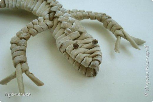 Мастер-класс Поделка изделие Плетение Ящерка Трубочки бумажные фото 30