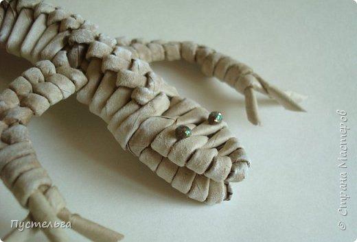 Мастер-класс Поделка изделие Плетение Ящерка Трубочки бумажные фото 31