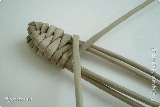 Мастер-класс Поделка изделие Плетение Ящерка Трубочки бумажные фото 7