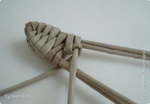 Мастер-класс Поделка изделие Плетение Ящерка Трубочки бумажные фото 10