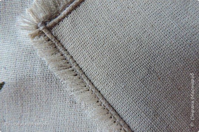 легкая летняя сумочка из льняной ткани фото 5