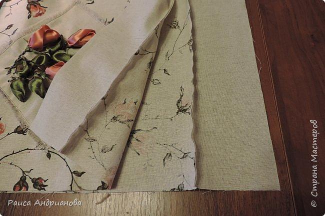легкая летняя сумочка из льняной ткани фото 6