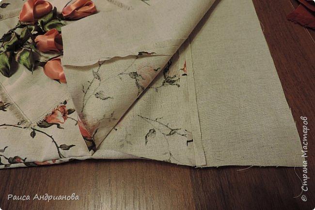 легкая летняя сумочка из льняной ткани фото 7